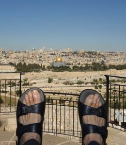 Feet in Jerusalem, on the Mount of Olives